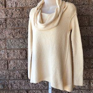 Free People Ivory Cream Cowl-neck Sweater | S/P